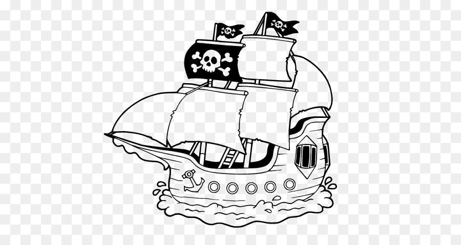 Boyama Kitabı Gemi Korsan Kaptan çocuk Gemi Png Indir 600470