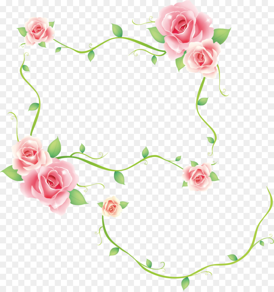 Borders And Frames Decorative Corners Rose Clip Art Rose Png