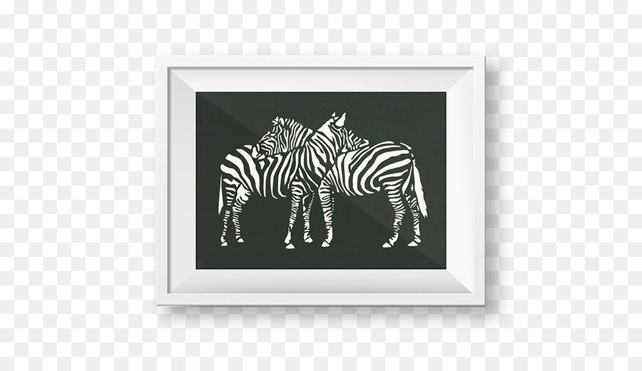 Quagga Picture Frames Rectangle White Terrestrial animal - Pepercut ...