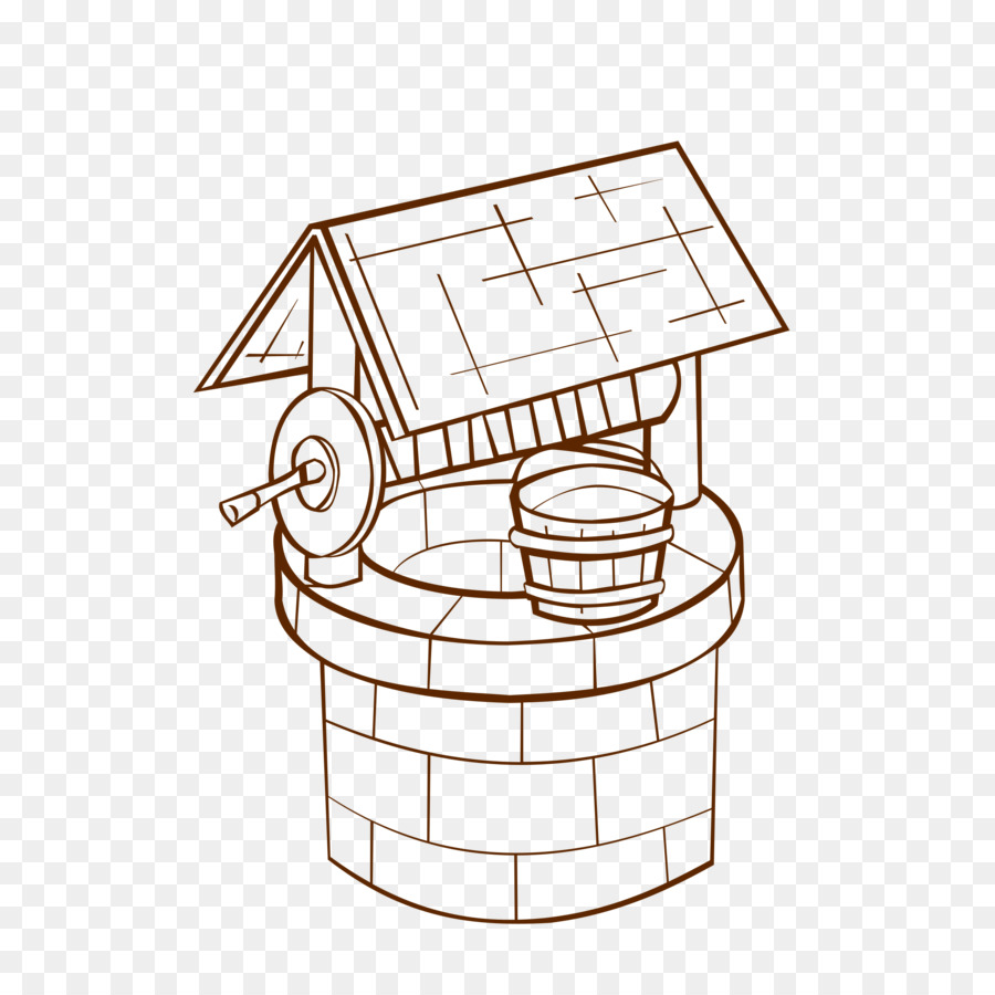 Coloring book Water well Adult Wishing well Child - well png ...