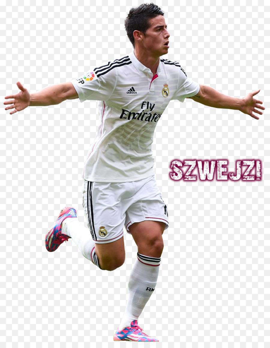 separation shoes efc5b ed91f James Rodríguez T-shirt Real Madrid C.F. Jersey Soccer ...
