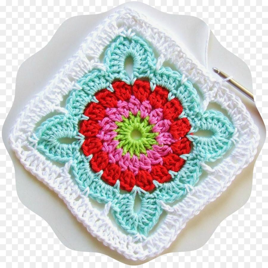 Crochet Granny square Tejido Motivo de Patrón - Cuadrado De La ...