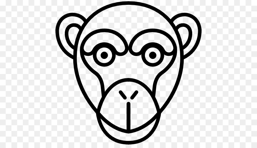 Buku Mewarnai Gambar Monyet Clip Art Monyet Unduh Wajah Putih