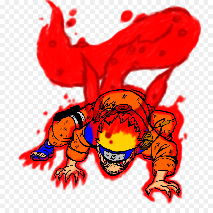 Uchiha Sasuke Naruto Kurama Menggambar Binatang Berekor Sembilan