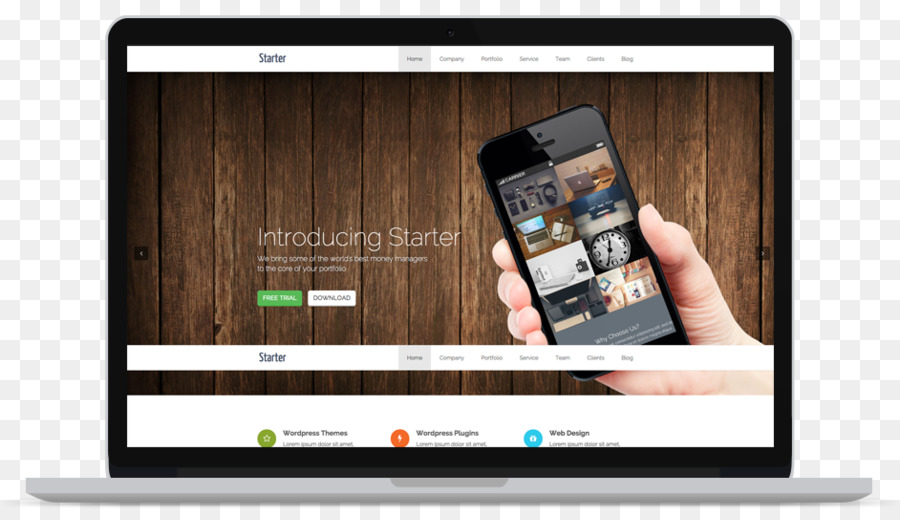Diseño web Responsive Tema WordPress MacBook Pro - WordPress ...