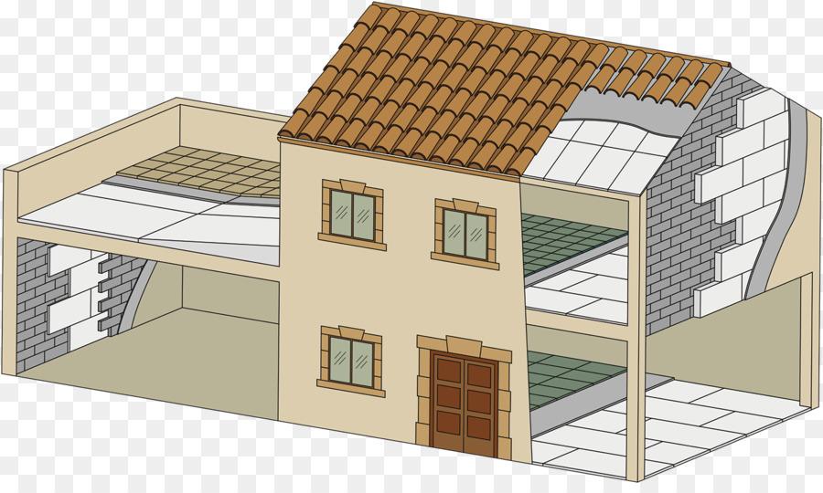 House Roof Ihnen Architectural engineering wärmedämmung - Haus png ...