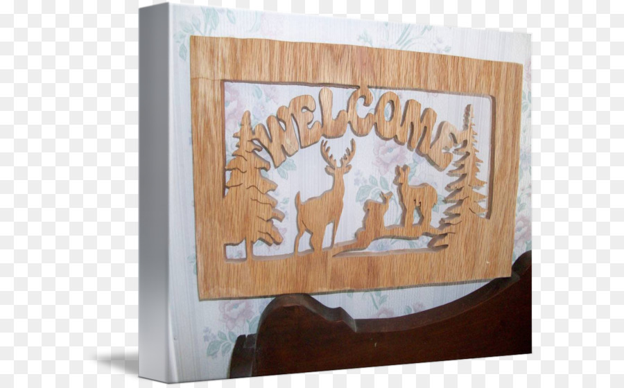 Picture Frames Deer Wood Welcome sign /m/083vt - deer png download ...