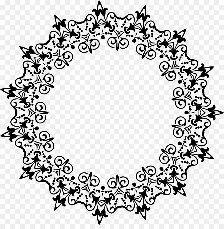 Libro para colorear Círculo de Dibujo de la Flor - circulo Formatos ...