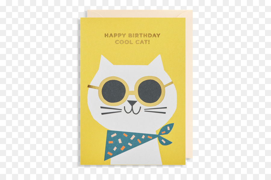 Greeting & Note Cards Birthday Cat Christmas card - Birthday png ...