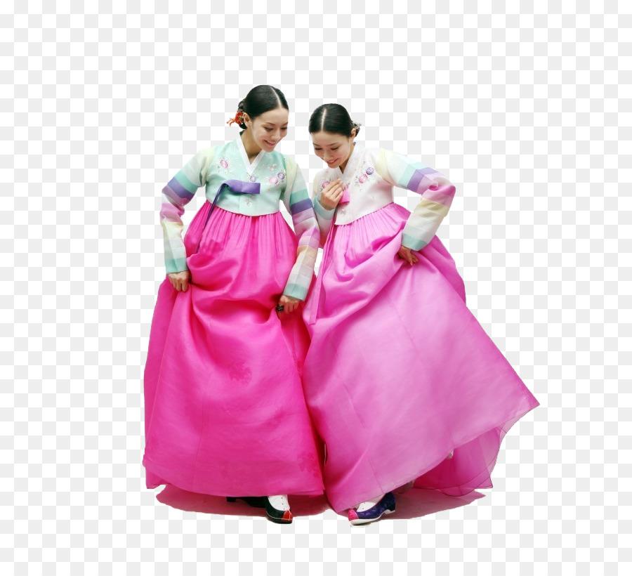 South Korea Hanbok Hanfu Clothing Traditional Dress Png Download