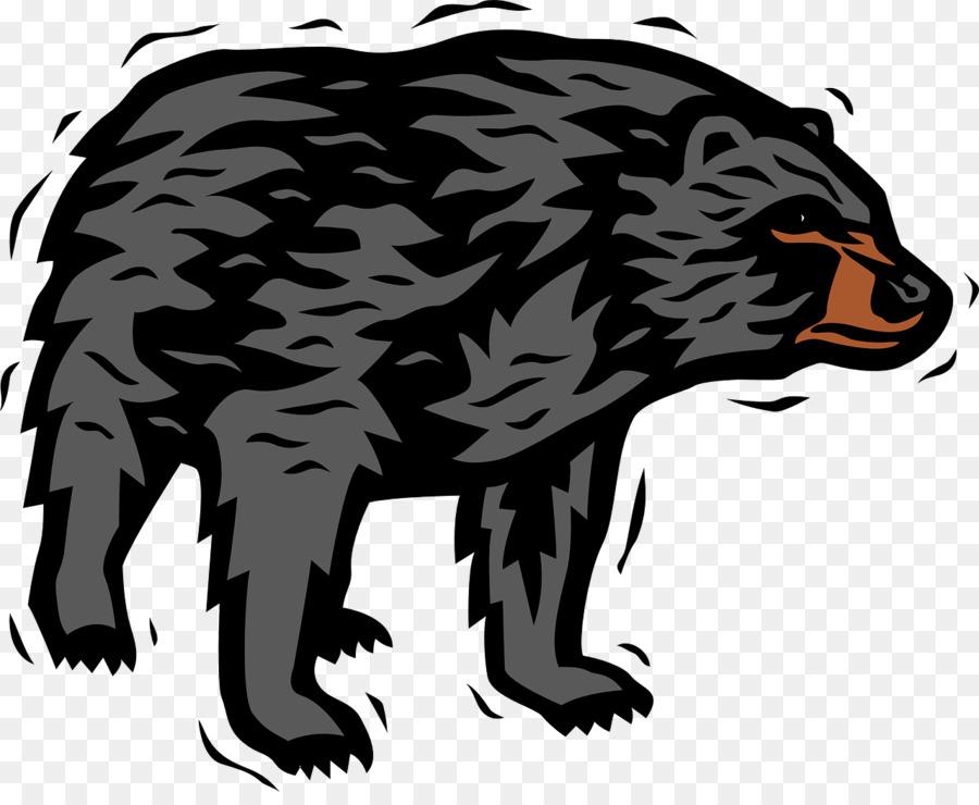 american black bear polar bear brown bear clip art bear png rh kisspng com black bear clip art images black bear silhouette clip art