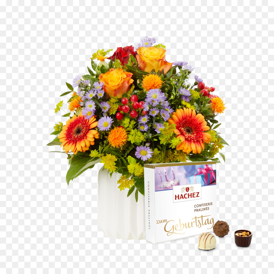 Flower Bouquet Birthday Cake Cut Flowers PNG