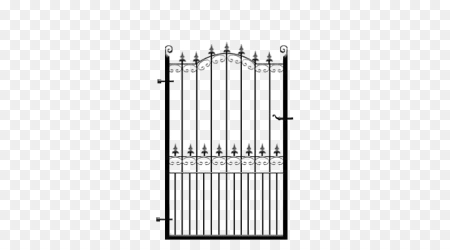 Wrought iron Metal Gate Fence - Wrought Iron Gate png download - 500 ...
