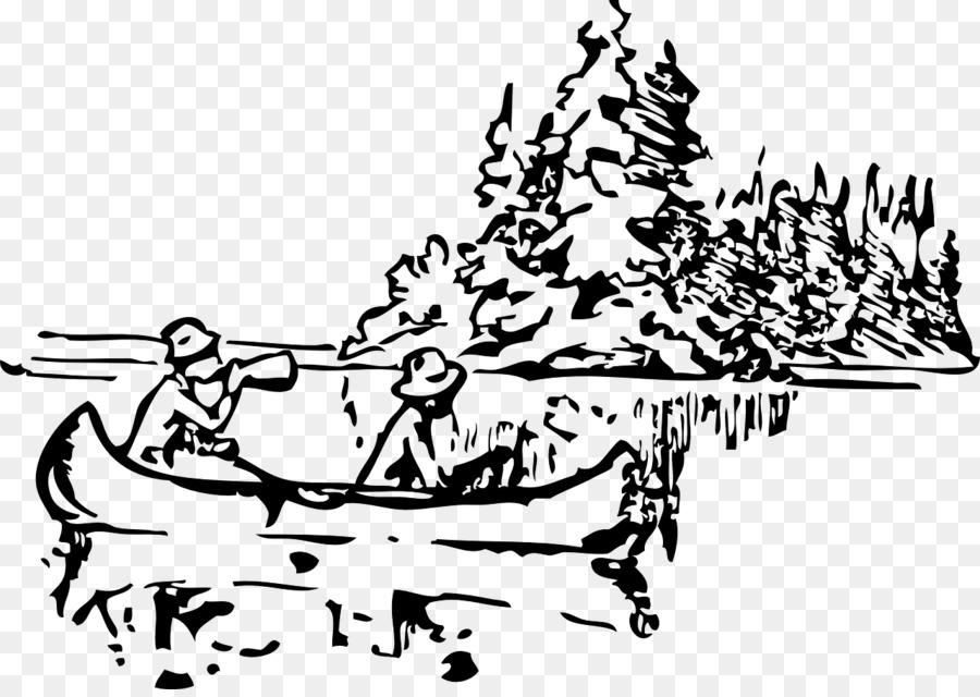 Canoe Drawing Clip Art