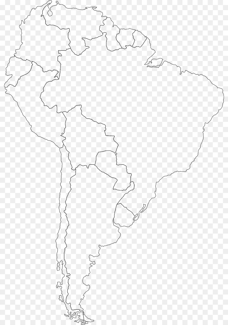 South America Latin America Map Clip art - map png download - 868 ...