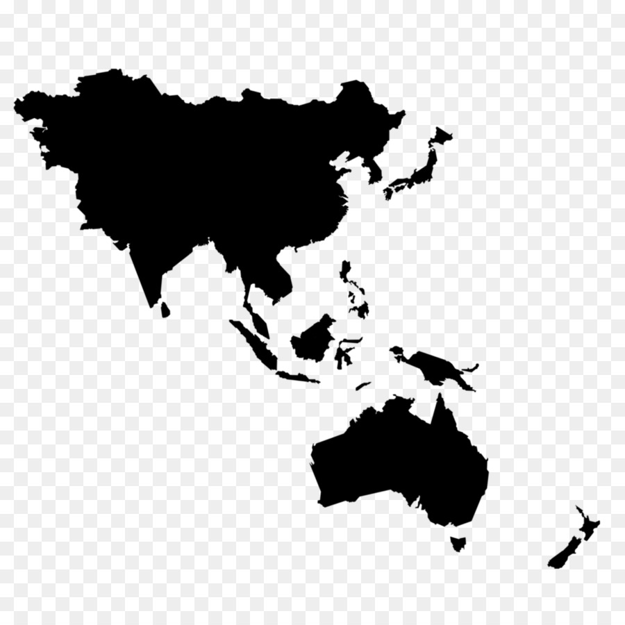 Asia Pacific East Asia World Map World Map Png Download 1000