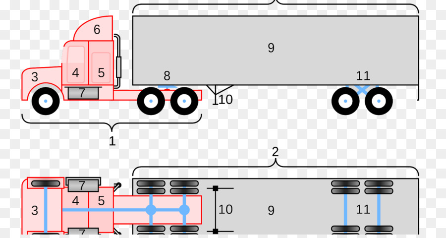Peterbilt Car Semi-trailer truck Wiring diagram - car