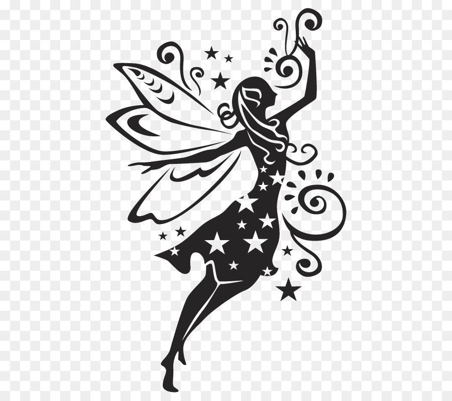 Wall Decal Fairy Silhouette Stencil Fairy Png Download 800800