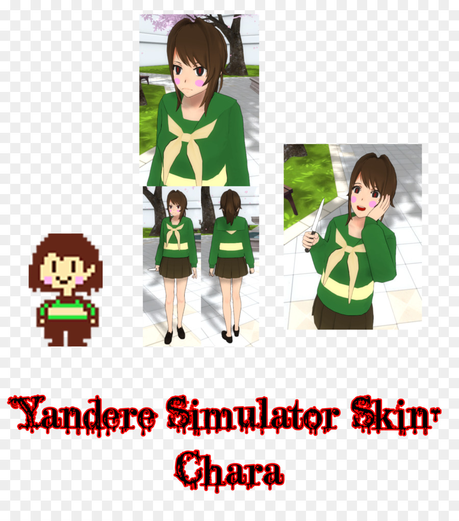 Yandere Simulator Undertale Minecraft Skin - others png download ...