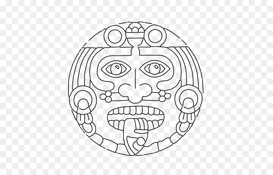 La civilización Maya Azteca piedra del calendario Mesoamericano ...