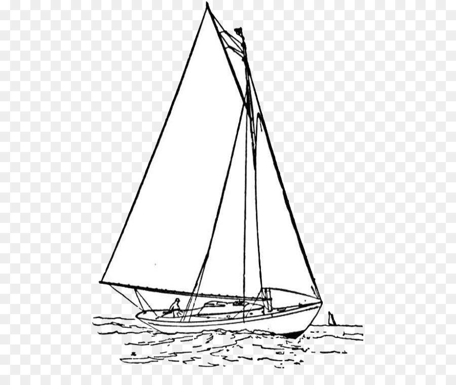 Velero de Dibujo de barco de Vela - barco png dibujo - Transparente ...