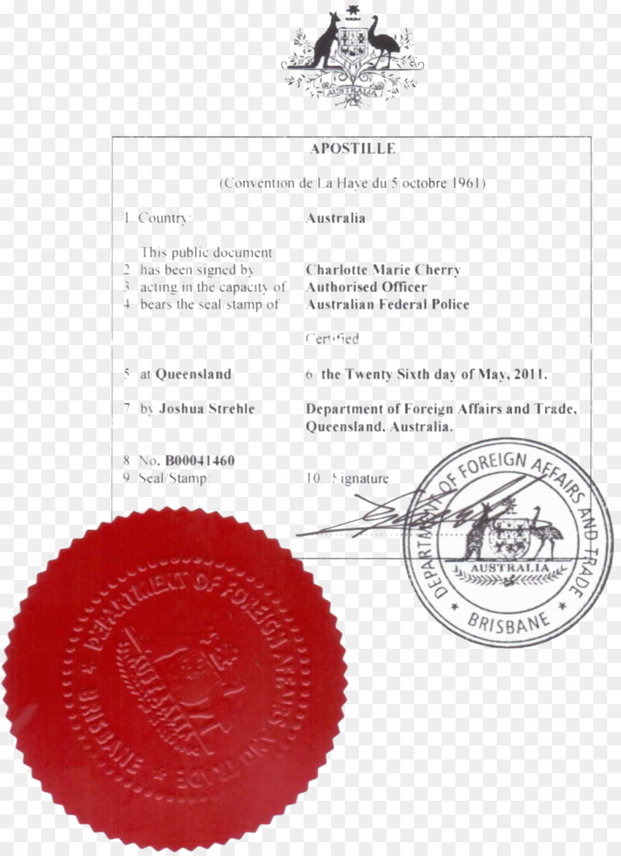 Apostille Convention Seal Australia Birth Certificate Seal Png