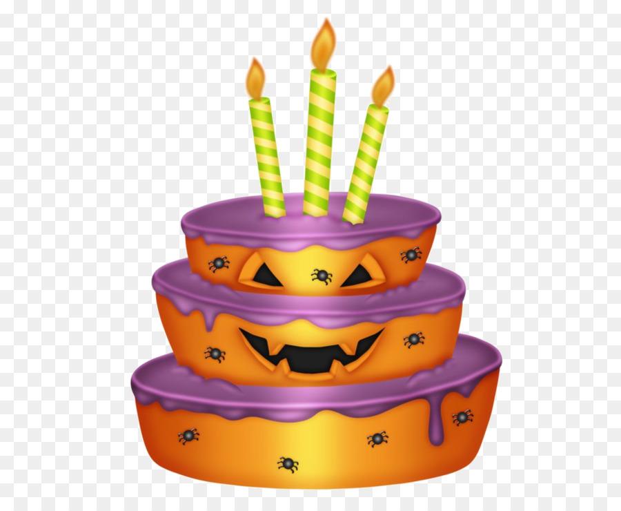 Birthday Cake Halloween Clip Art