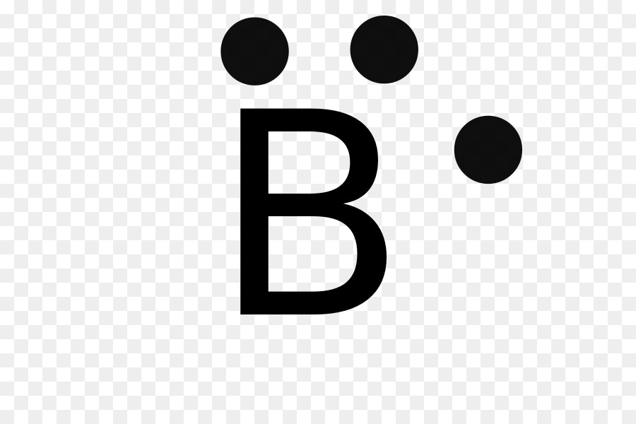 Lewis Structure Boron Valence Electron Atom Symbol Png Download