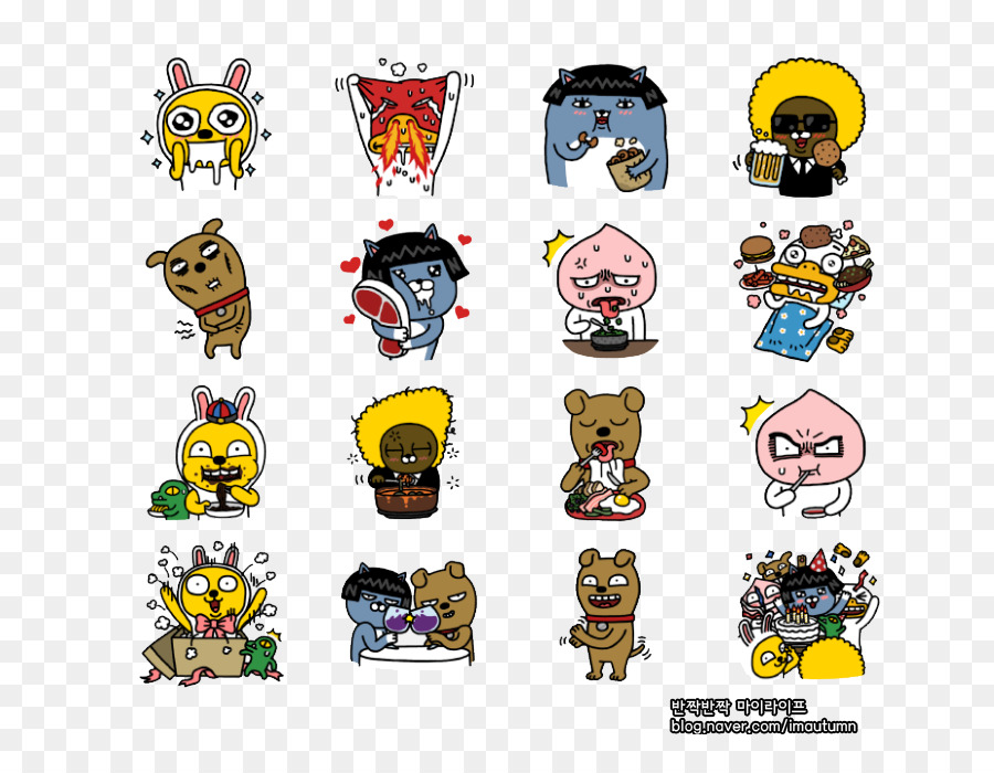 Kakao Friends Kakaotalk Emoticon Sticker Kakaofriends Png Download