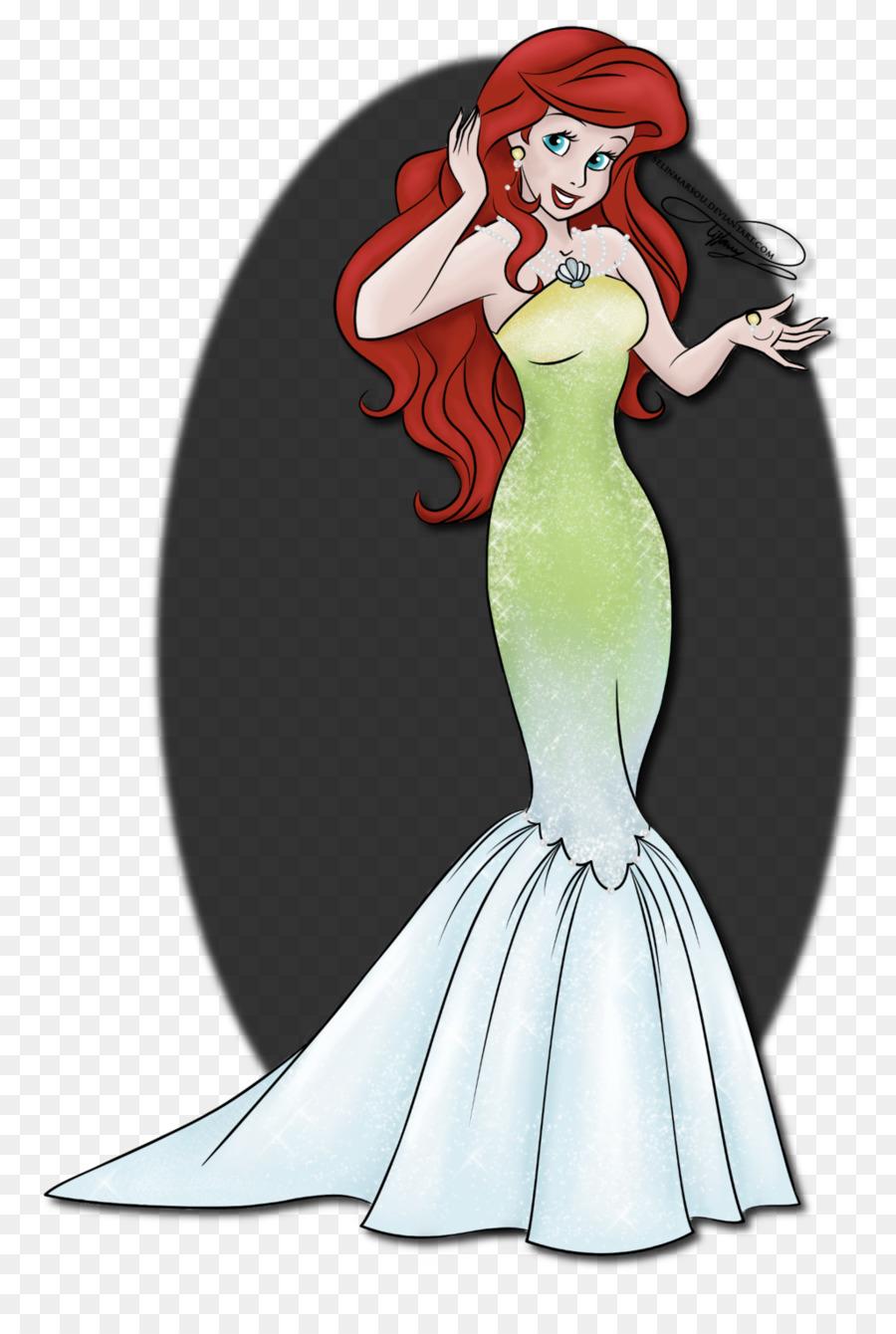 Ariel arte de Línea de Dibujo para Colorear libro - La Princesa De ...