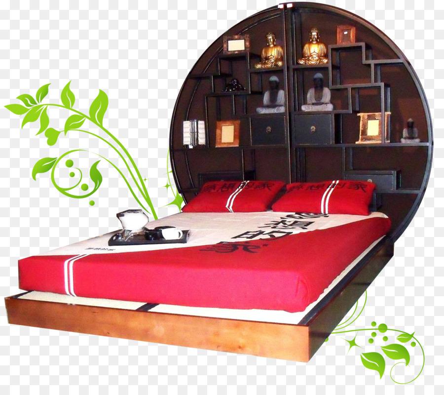 Marco de la cama de Colchón de Futón en el suelo de Tatami ...