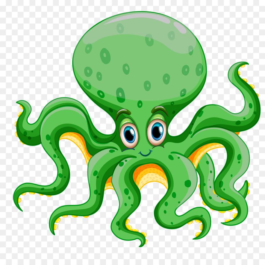 Octopus Clip art - Sea Animals Cartoon png download - 5077 ...
