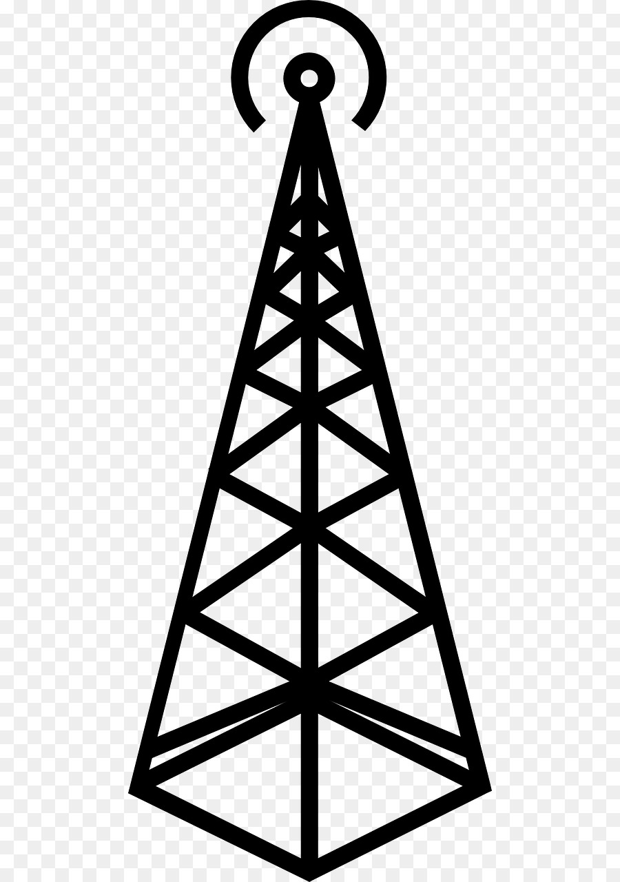 Cell Site Telecommunications Tower Cellular Network Clip Art