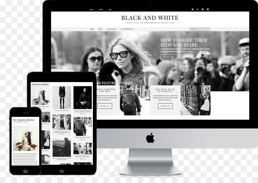 WordPress Theme Template Responsive web design - WordPress png