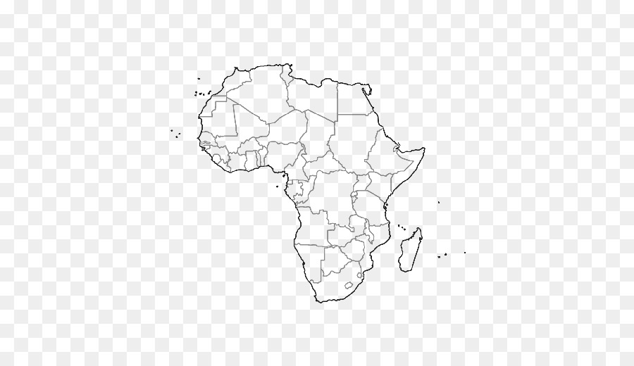 Libro para colorear en el Sur de África Mapa - mapa png dibujo ...