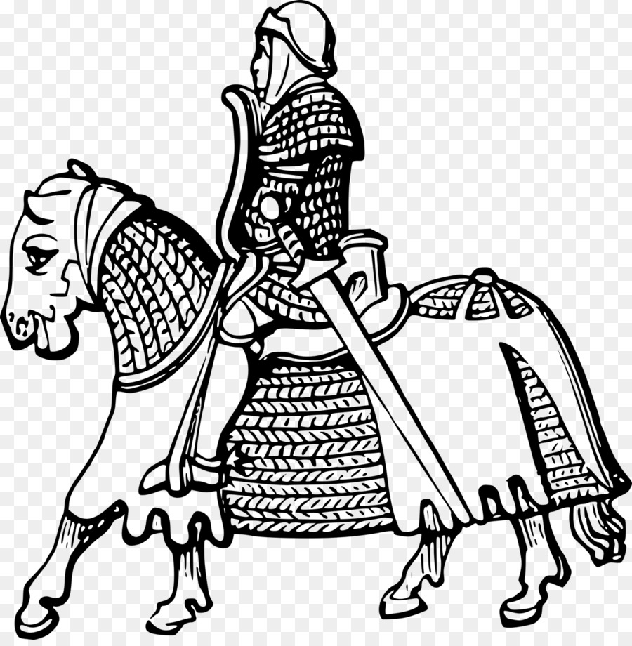 Horse Coloring book Knight Page Jousting - horse png download - 1264 ...