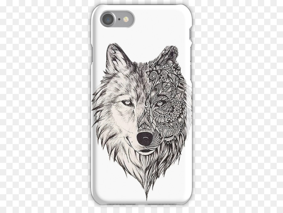Mandala Zeichnung Hund Black Wolf Red Wolf Hund Png Herunterladen
