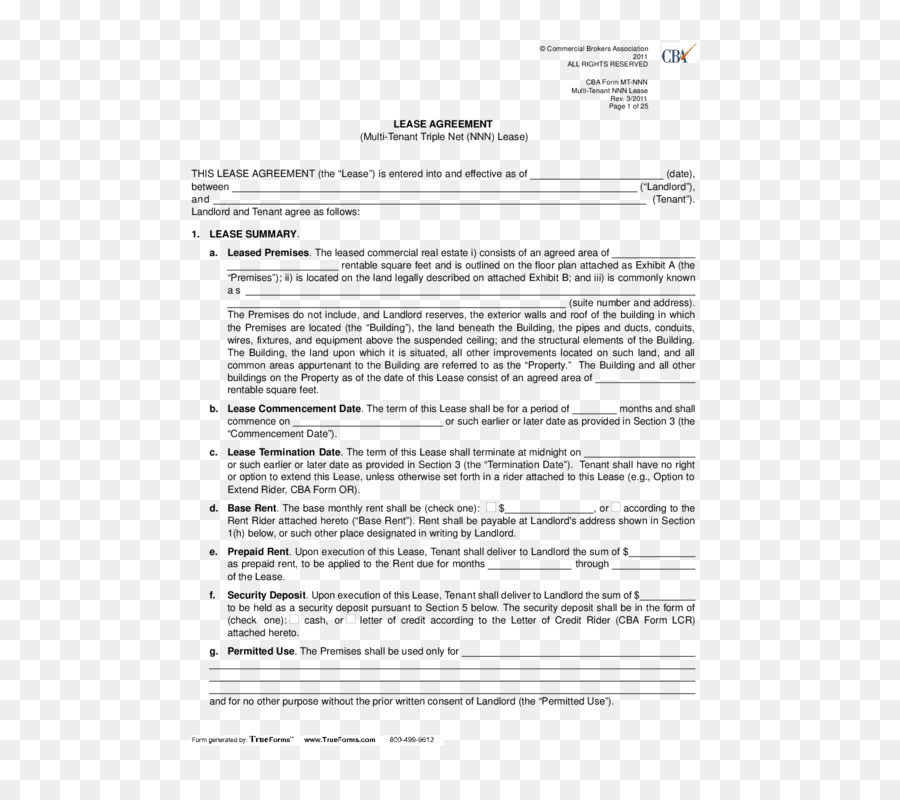 Cattle Net Lease Rental Agreement Contract House Png Download