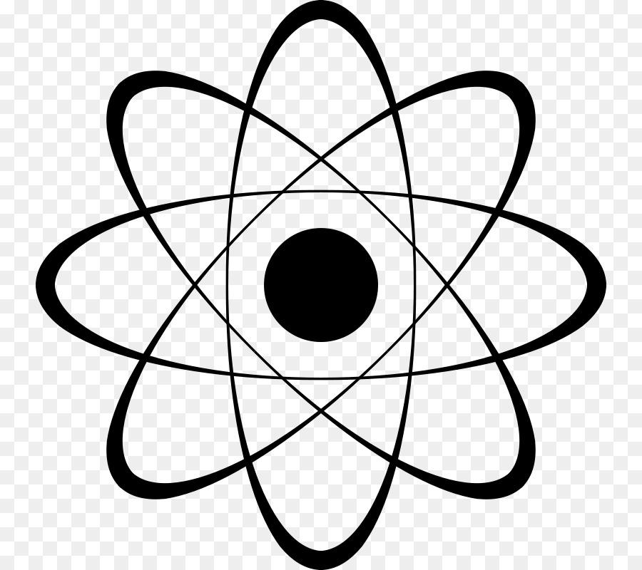 atom black and white