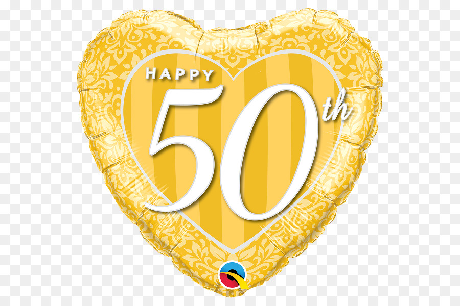 balloon birthday gold wedding anniversary 50th anniversary png