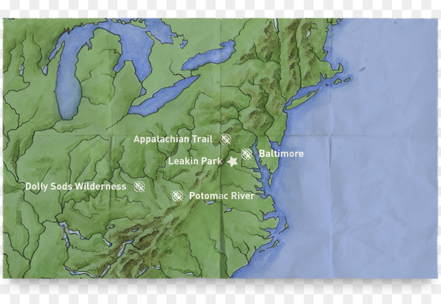 Dolly Sods Wilderness Trail map Delaware Water Gap - map png ... on