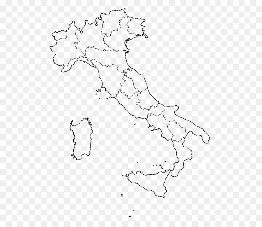 Coloring Book Regions Of Italy Blank Map Florence Map Png Download