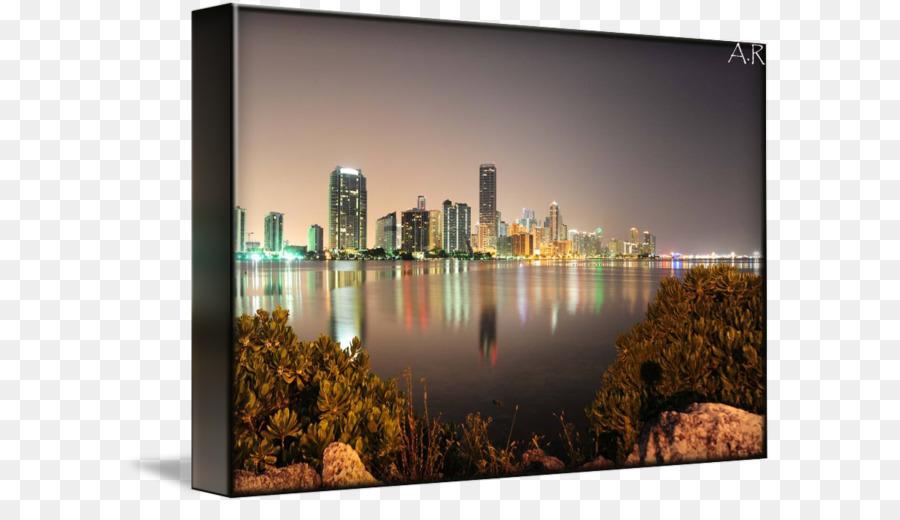 Skyline Gallery Wrap Picture Frames Cityscape Canvas Miami Skyline