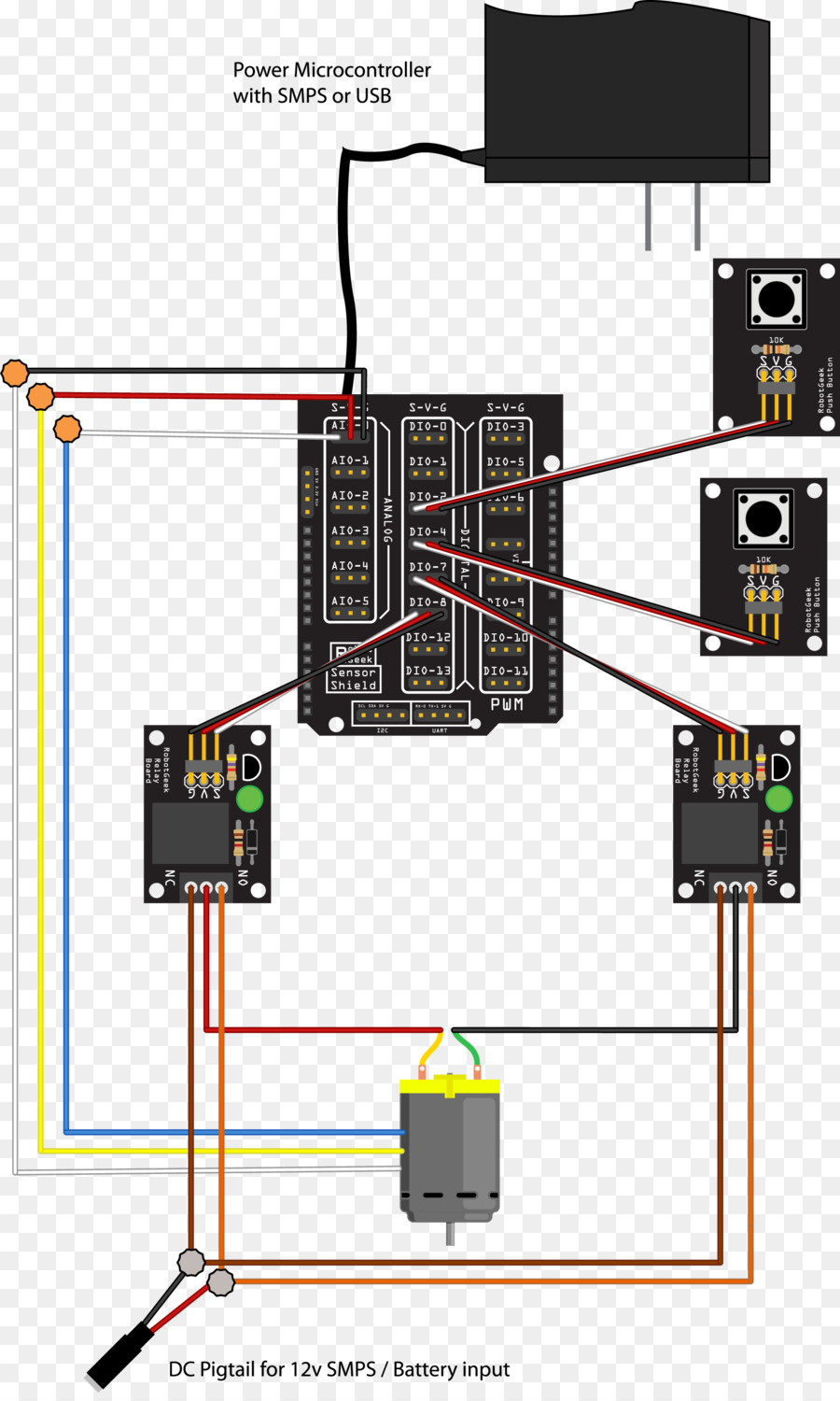 Linear actuator Arduino Wiring diagram Relay - others