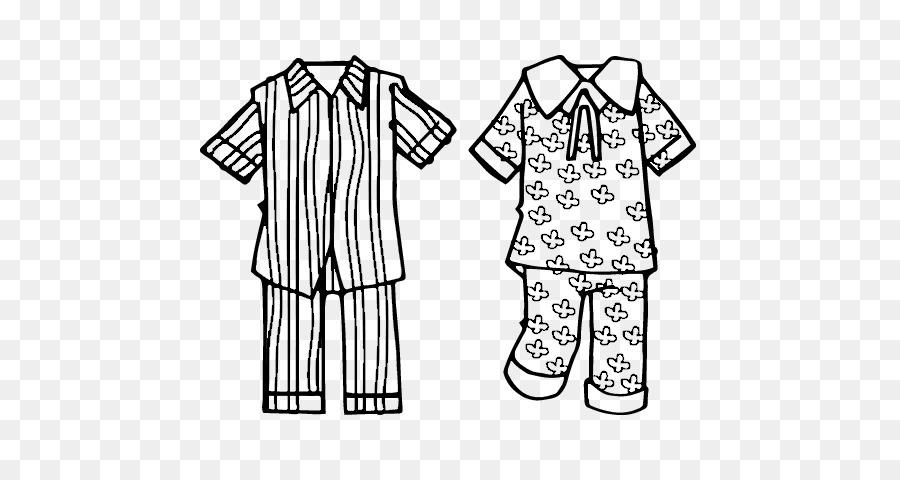 Piyama Buku Mewarnai Pakaian Panjang Garis Seni Pijamas Unduh