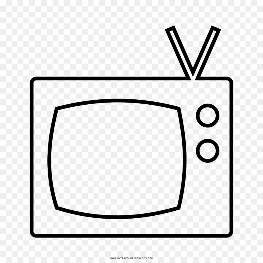 La televisión Dibujo en blanco y Negro para Colorear libro ...