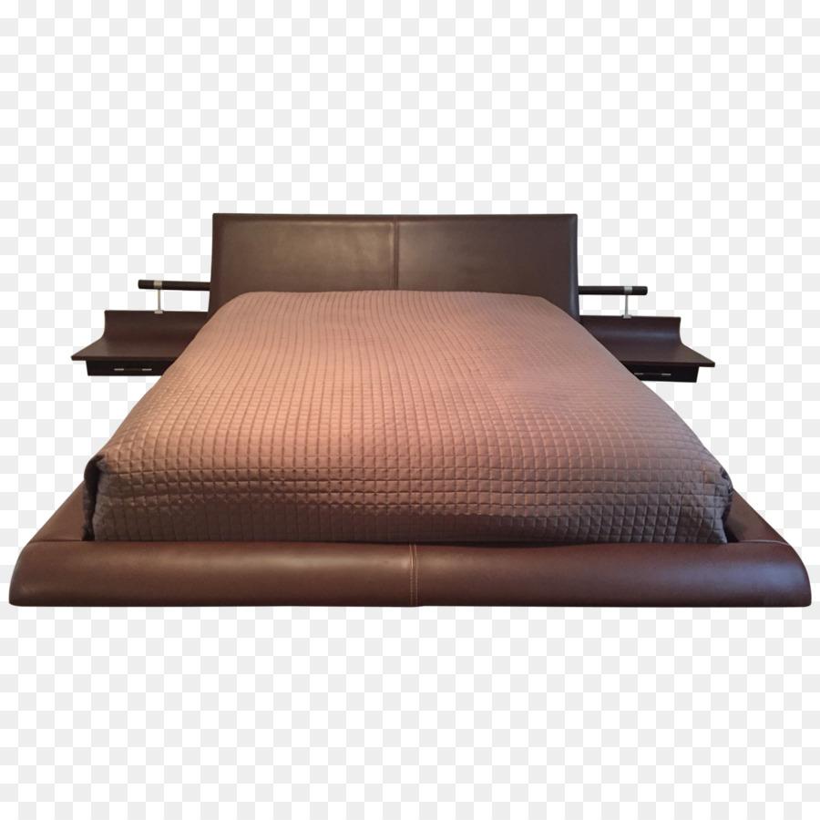 Marco de la cama con mesitas de noche Colchón de la Cama de Hojas de ...