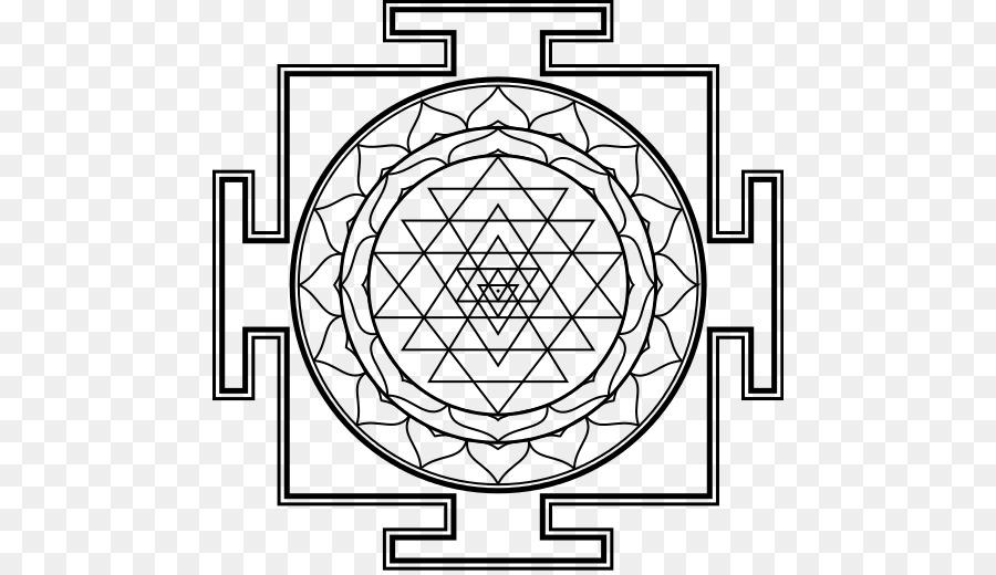 Sri Yantra Mandala Coloring Book Symbol Png Download 516516
