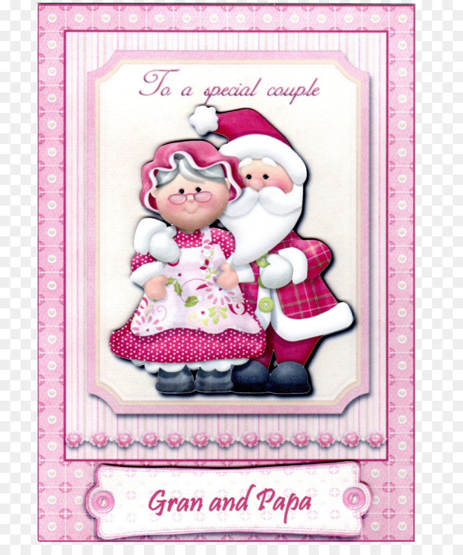 Christmas Ornament Santa Claus Mrs Claus Greeting Note Cards