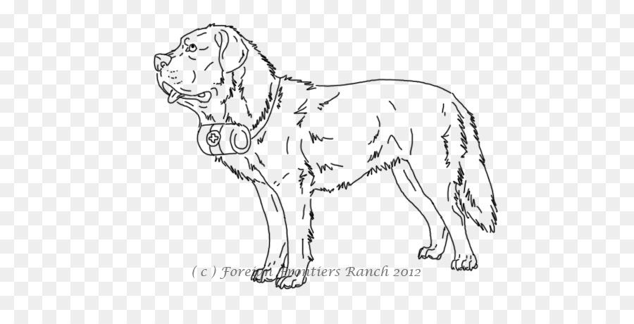 San Bernardo Cachorro libro para Colorear, Dibujo de perro Lobo ...